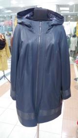 Кожаное пальто большого размера