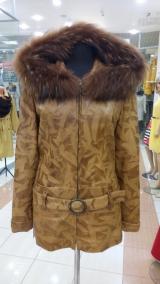 Куртка из жакардовой кожи